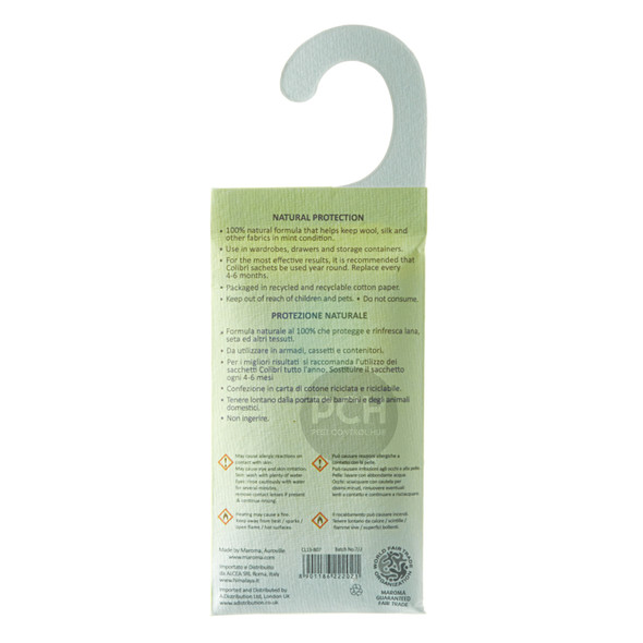 Colibri Anti Moth Hanging Sachet Natural Repellent Lavender
