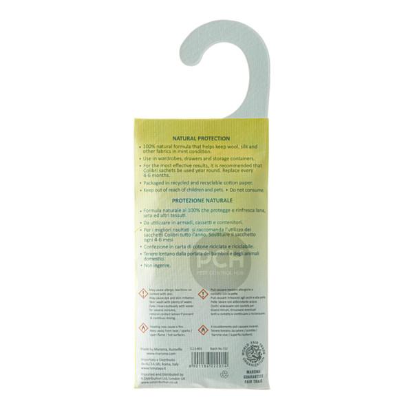 Colibri Anti Moth Hanging Sachet Natural Repellent Lemongrass