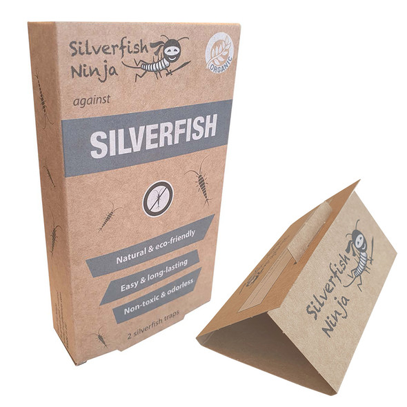 Ninja Silverfish Traps with Natural Bait Tablet Twin Pack