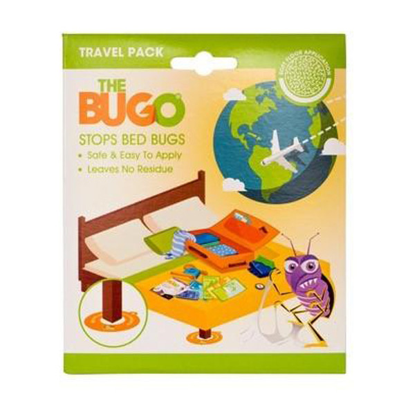 The Bugo Bed Bug Traps Travel Pack for Soft Floor 4 Pack