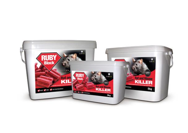 Lodi Ruby Block Rat and Mouse Killer Poison Difenacoum Blocks