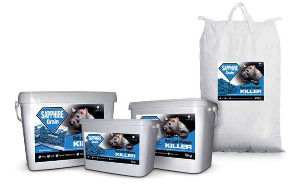 Lodi Sapphire Grain Bait Rat and Mouse Killer Poison Brodifacoum