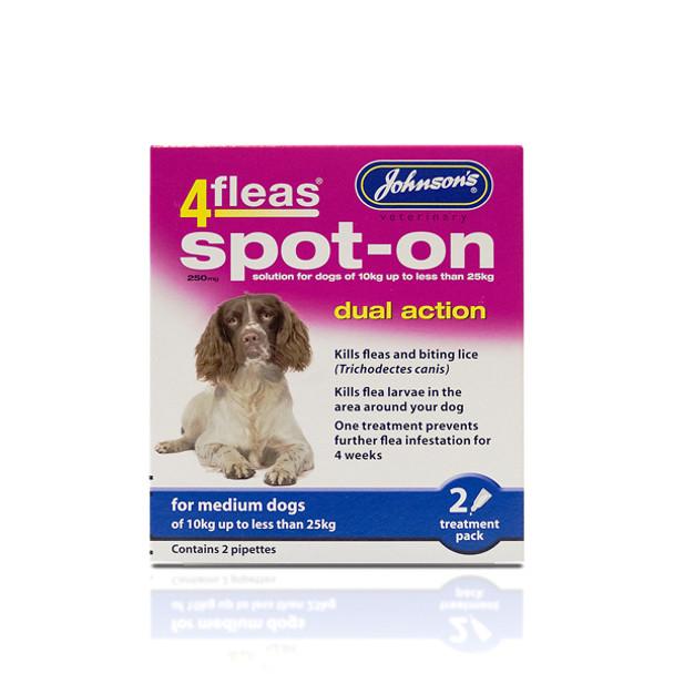Johnsons 4fleas Spot-On Dual Action for Medium Dogs
