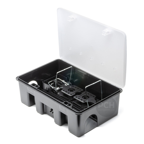Mastertrap MX Rat and Mouse Bait Station Clear Lid