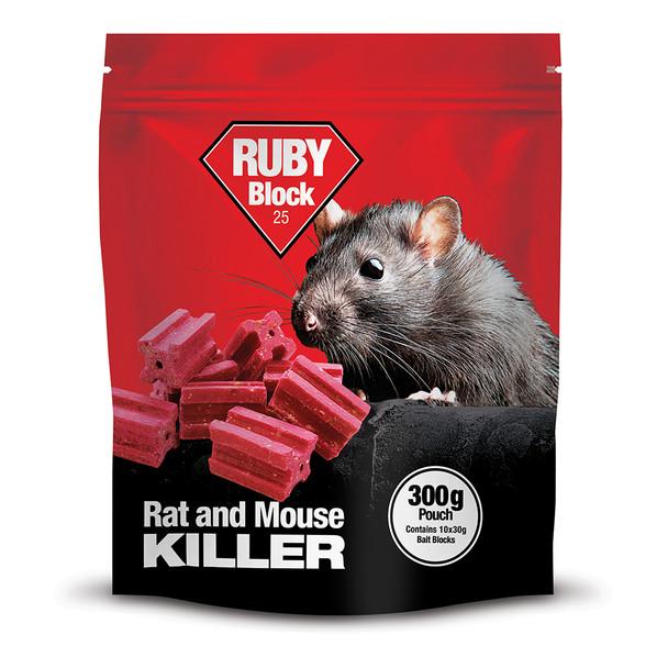 Lodi Ruby Block Bait Rat and Mouse Killer Poison Difenacoum 300g
