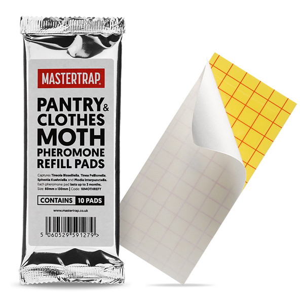 Mastertrap 2-in-1 Pantry and Clothes Moth Trap Pheromone Refill Pads