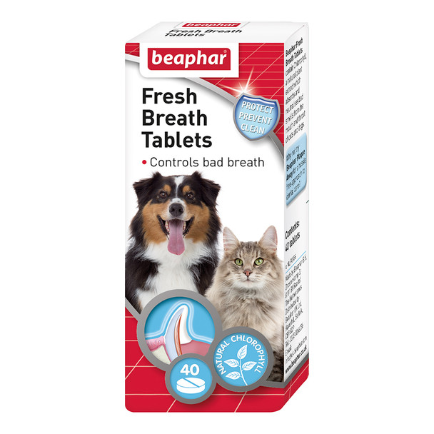 Beaphar Fresh Breath Tablets for Dogs and Cats 40pc