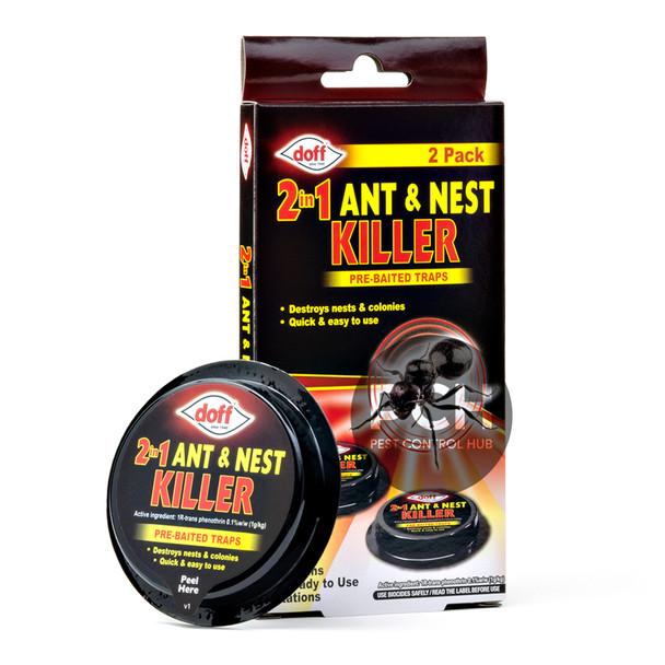 Doff 2in1 Ant and Nest Killer Bait Station Pre-Baited Traps