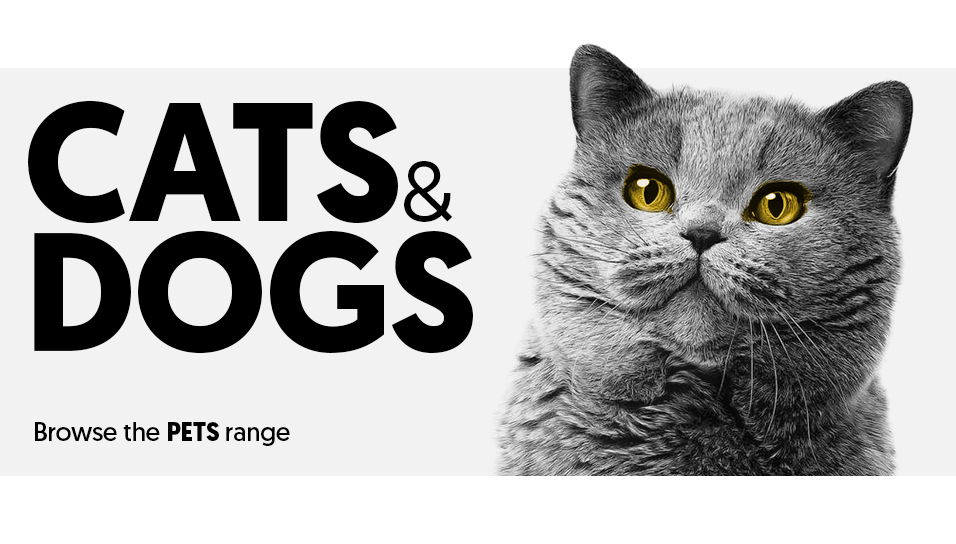 Cats and Dogs in the pets category.