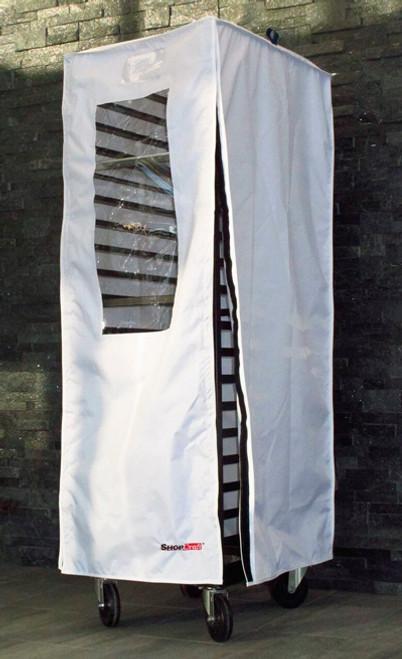 White Velcro Single Bun Pan Rack Covers