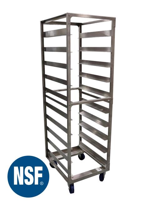 "10 Pan 6"" Spacing Industrial Grade Aluminium Bun Rack for Bakery, Pizzeria & Pastry Shops |  20.5"" x 26"" x 70"" | TX-106 | Schaumburg Specialties"