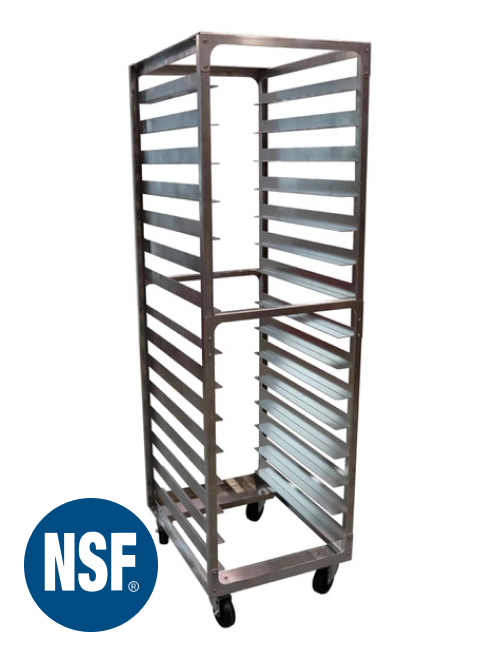 "15 Pan 4"" Spacing Heavy Gauge Aluminium Bun Rack | 350 Lbs Total Capacity | No Tubes | 20.5"" x 26"" x 70"" | TX-154 | Schaumburg Specialties"