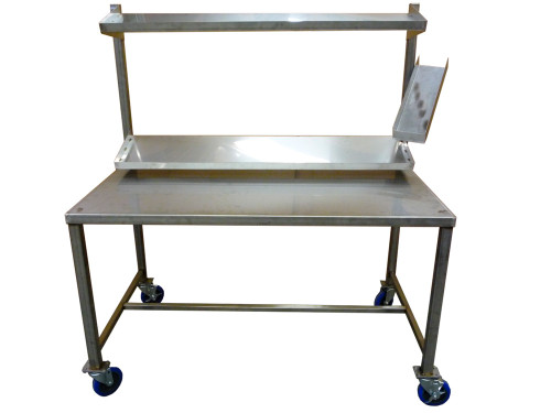 Commercial Work Tables with Customizable Shelfs