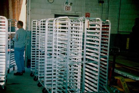 Commercial bakery racks