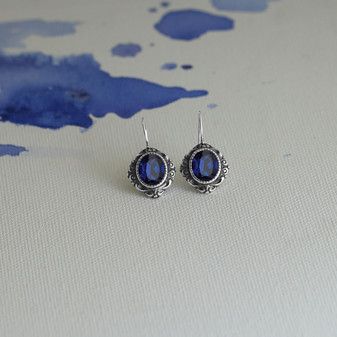 Royal Sapphire Drop Earrings