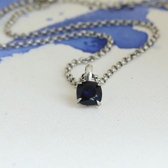 Indigo Sapphire Claw-set Pendant