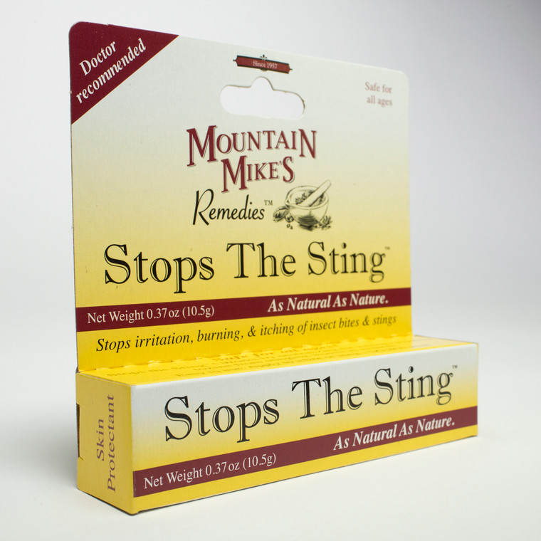 Stops the Sting - The sting ointment made from the natural ingredients kaolin clay and colloidal oatmeal.