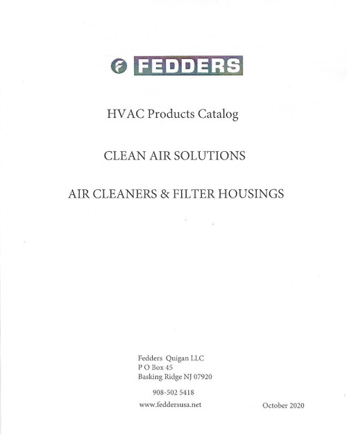 Fedders IAQ Catalog free download