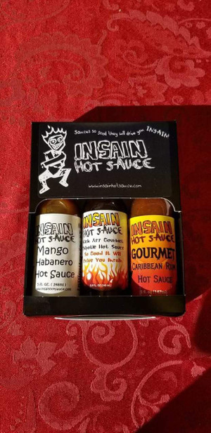 Insain Hot Sauce 3 pack.