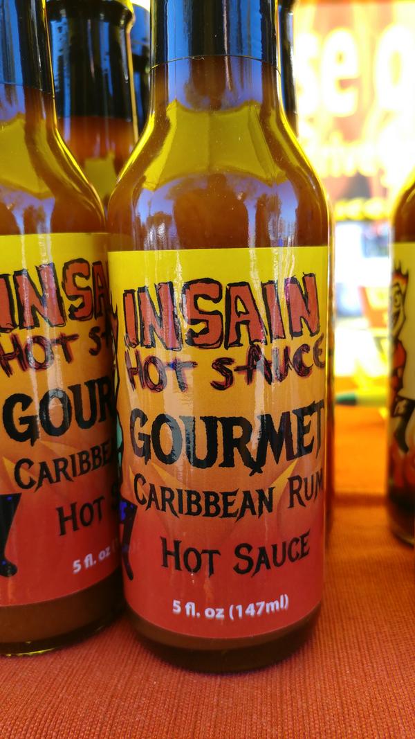 Insain Hot Sauce Caribbean Rum Hot Sauce