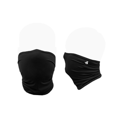 """BDG FACE COVER 83% Polyester/17% Spandex moisture management fabric  Serves as an additional barrier to the outside environment for essential outings  On the Flat Dimensions (S/M) Length 9"""" Width @ Top 8"""" Width @ Bottom 7""""  On the Flat Dimensions (L/XL) Length 10"""" Width @ Top 10"""" Width @ Bottom 9""""  Easy, pull up style  Seamless, comfort design  Note - We are not able to accept returns on this style"""