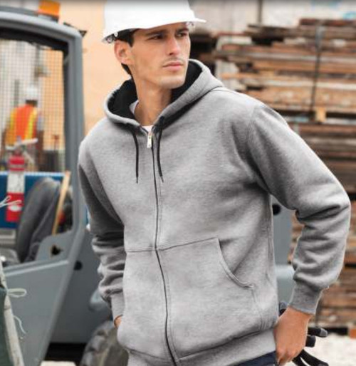 CARHARDT CORNERSTONE® HEAVYWEIGHT FULL-ZIP HOODED SWEATSHIRT WITH THERMAL LINING