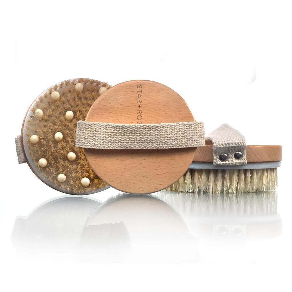 Spa Essentials Soft Boar Bristle Detox Body Brush