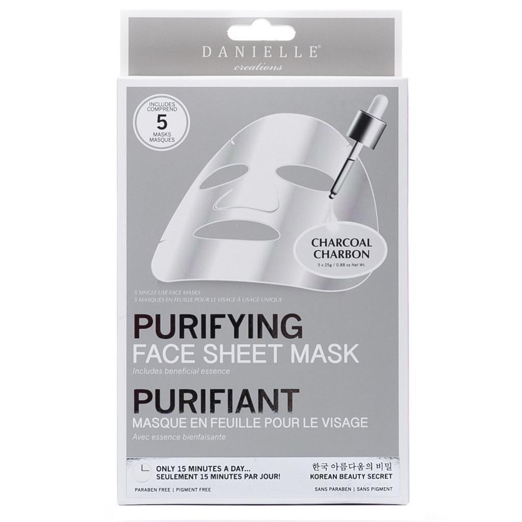 Danielle Creations Charcoal Purifying & Detoxifying Sheet Mask