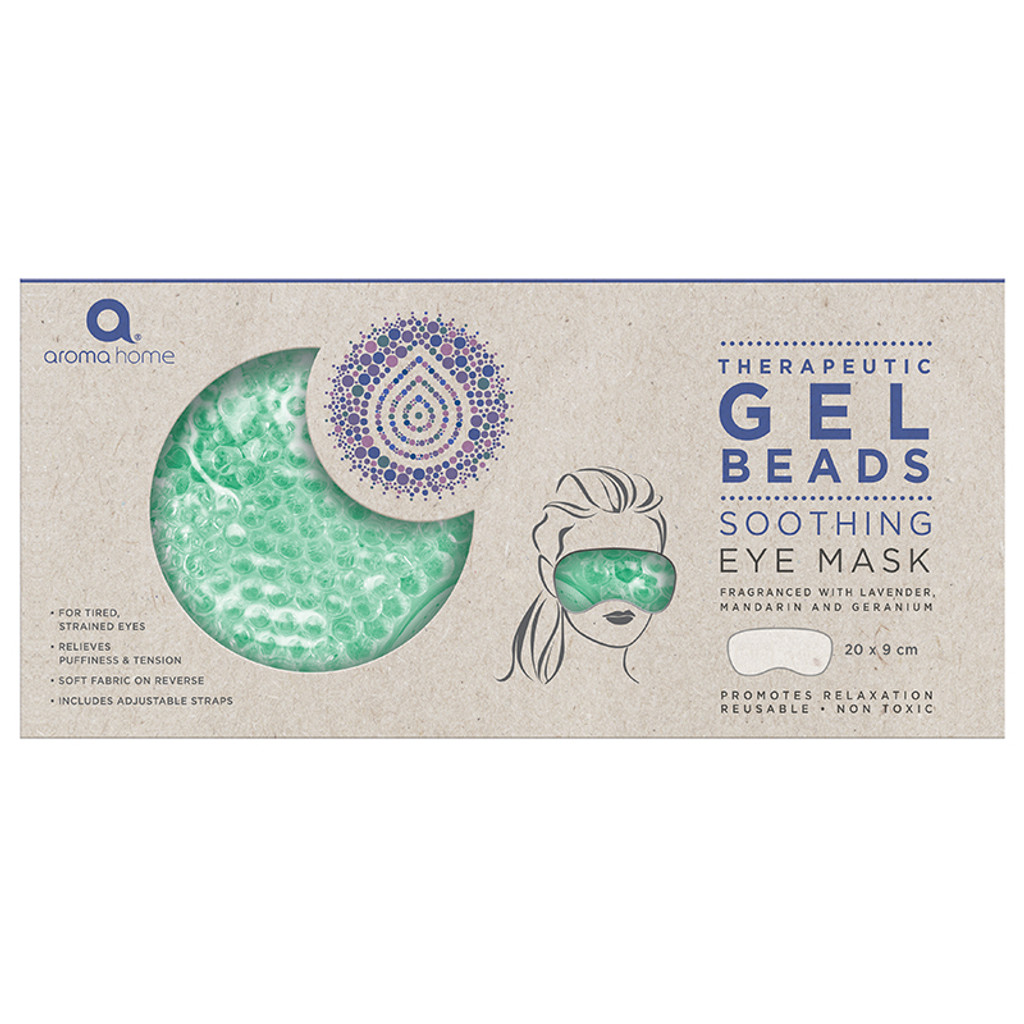 Aroma Home Therapeutic Gel Beads Eye Mask Sea Foam Packaging
