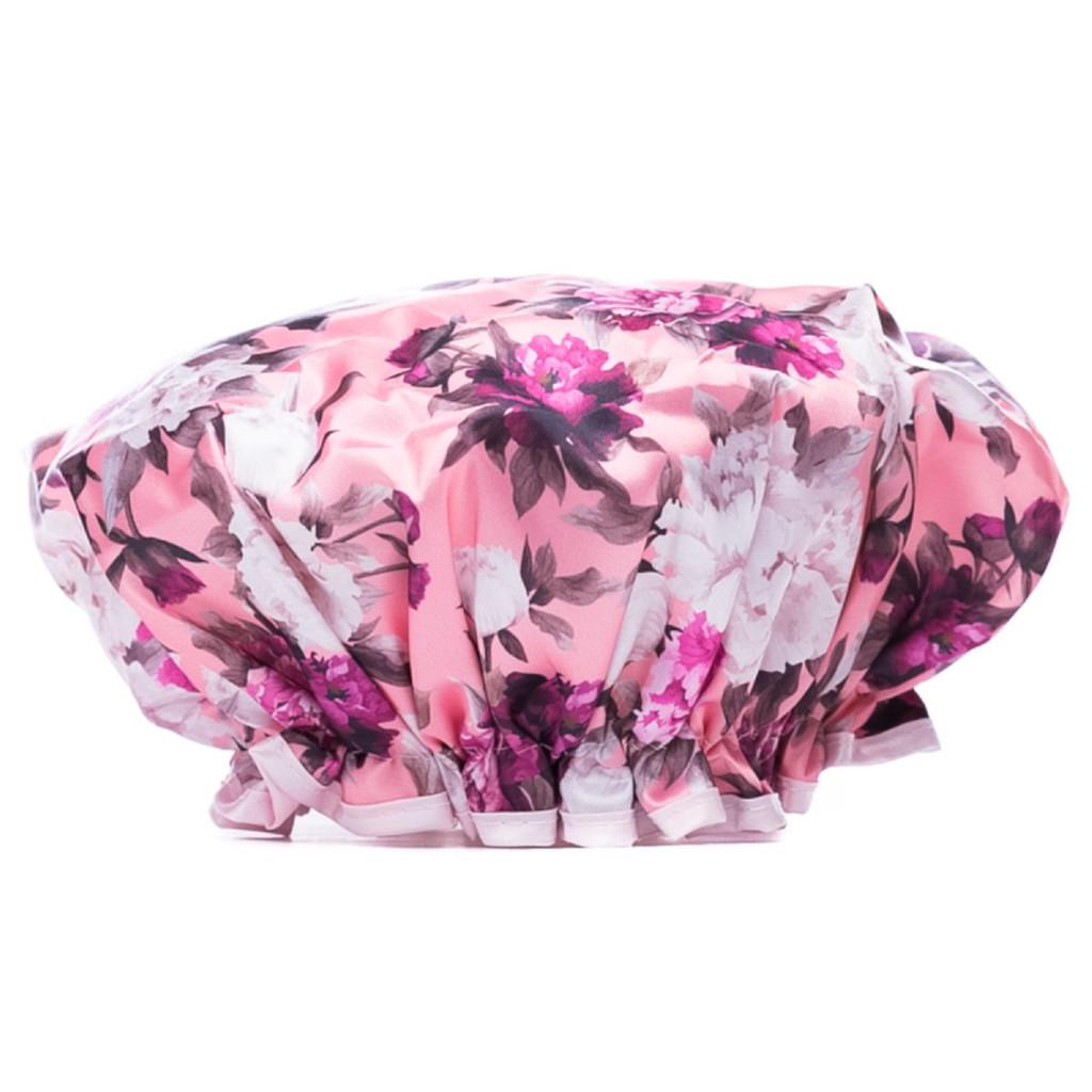 Danielle Creations Vintage Floral Blush Shower Cap