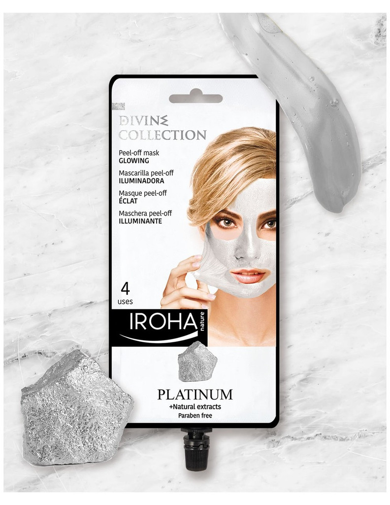 Iroha Nature Glowing Peel-Off Mask With Platinum (4 Use Sachet)