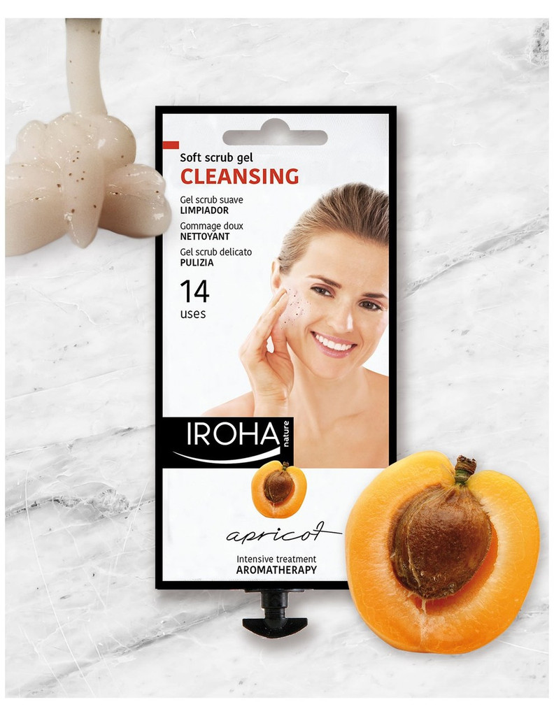 Iroha Cleansing Soft Scrub Apricot Exfoliater 25g