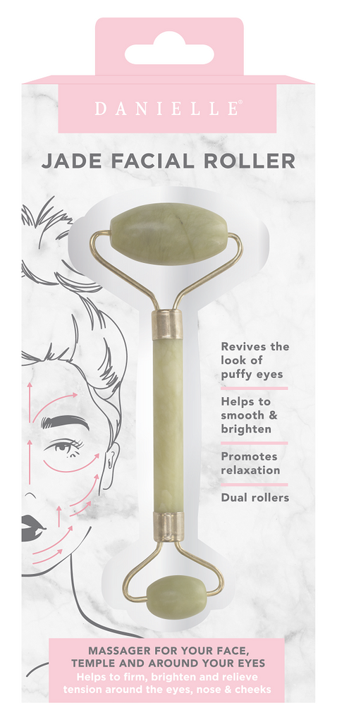 Danielle Dual Ended Green Jade Facial Roller Massager