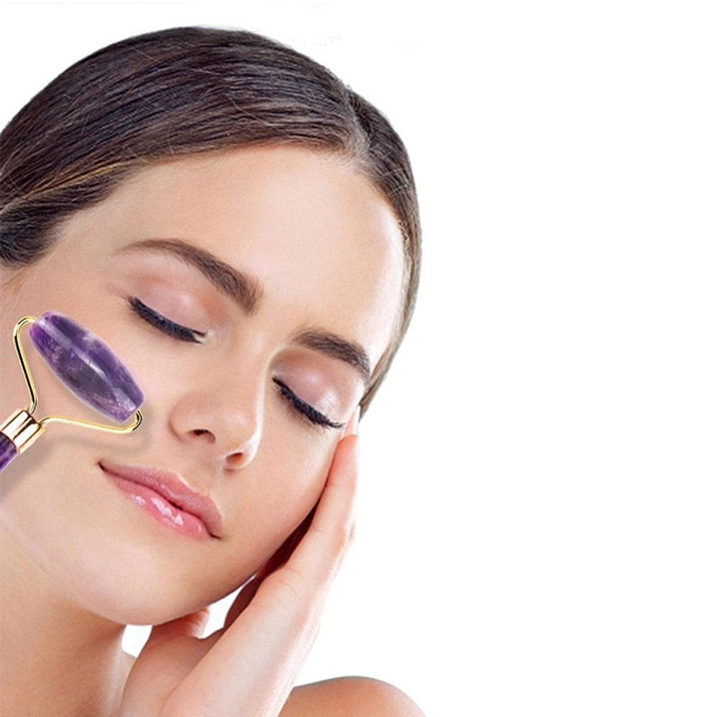 Danielle Dual Ended Amethyst Facial Roller Massager