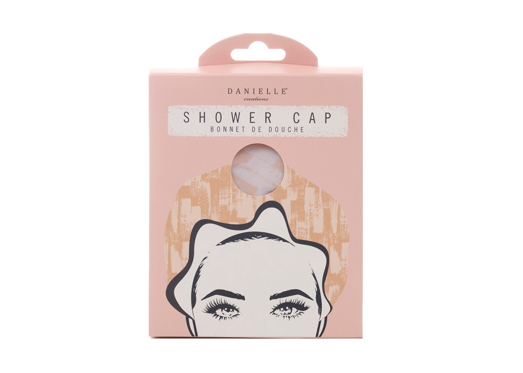 Danielle Creations Rosy Shimmer Shower Cap