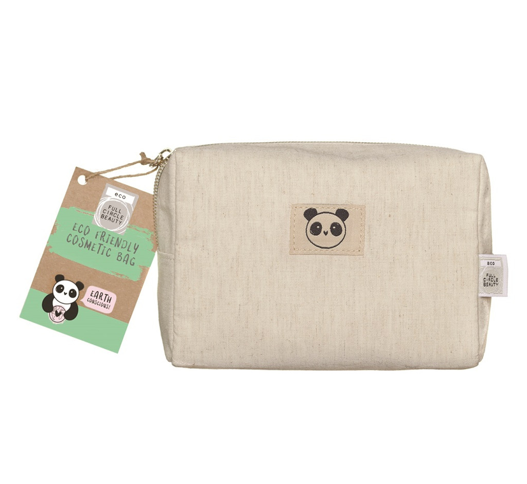 Eco Panda Bamboo Cosmetic / Toiletry Bag (Small)