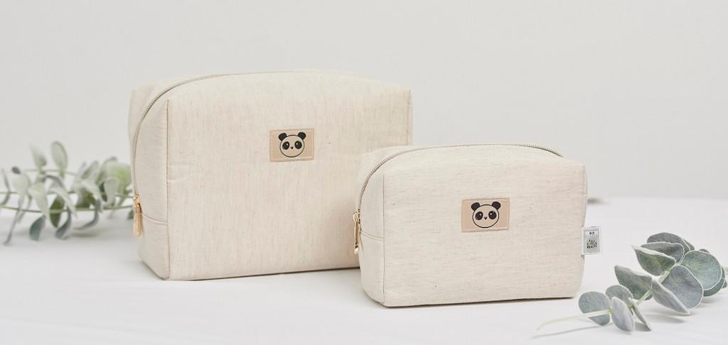 Eco Panda Bamboo Toiletry / Travel Bag (Large)