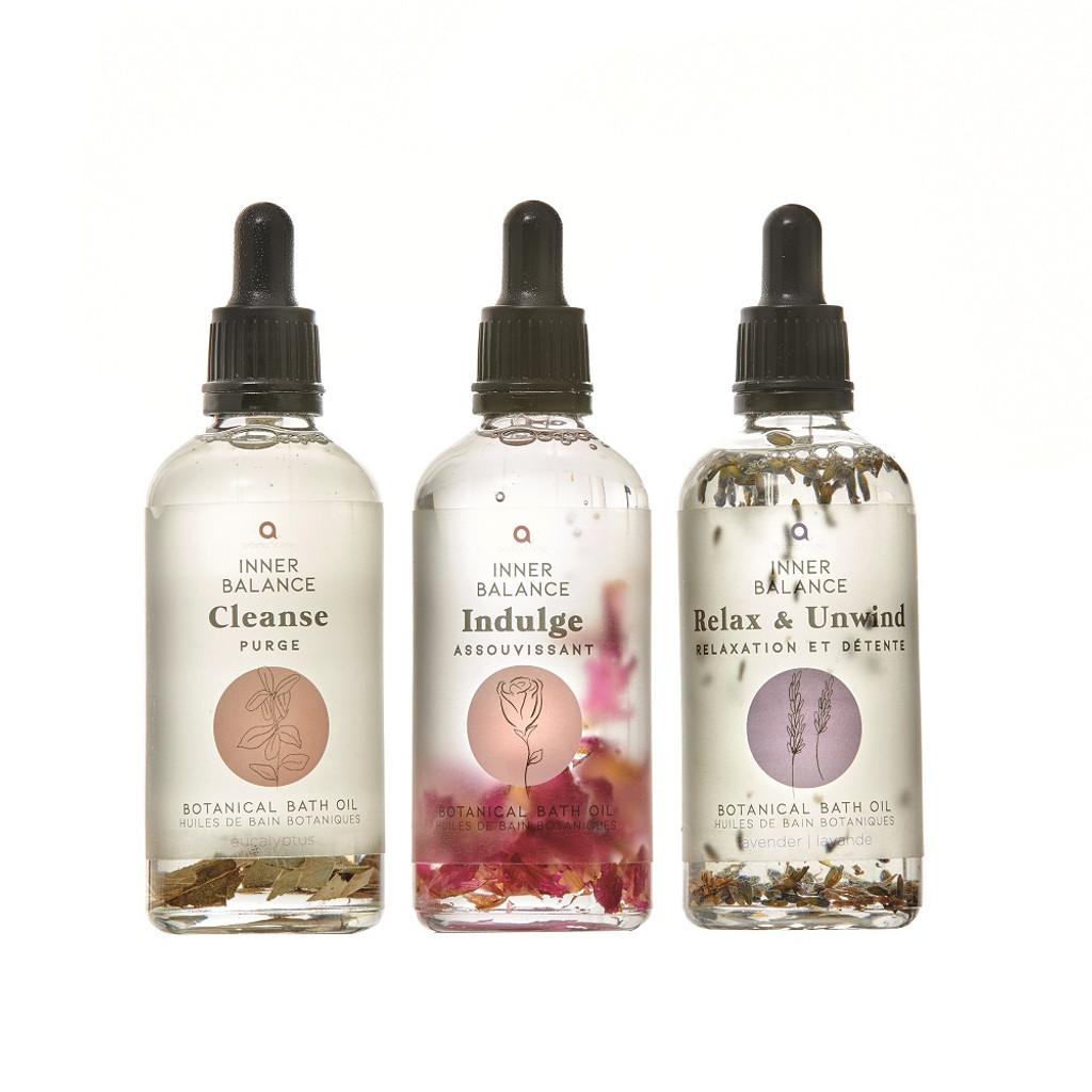 Inner Balance Unwind Bath Oils Trio Gift Set 3x105ml