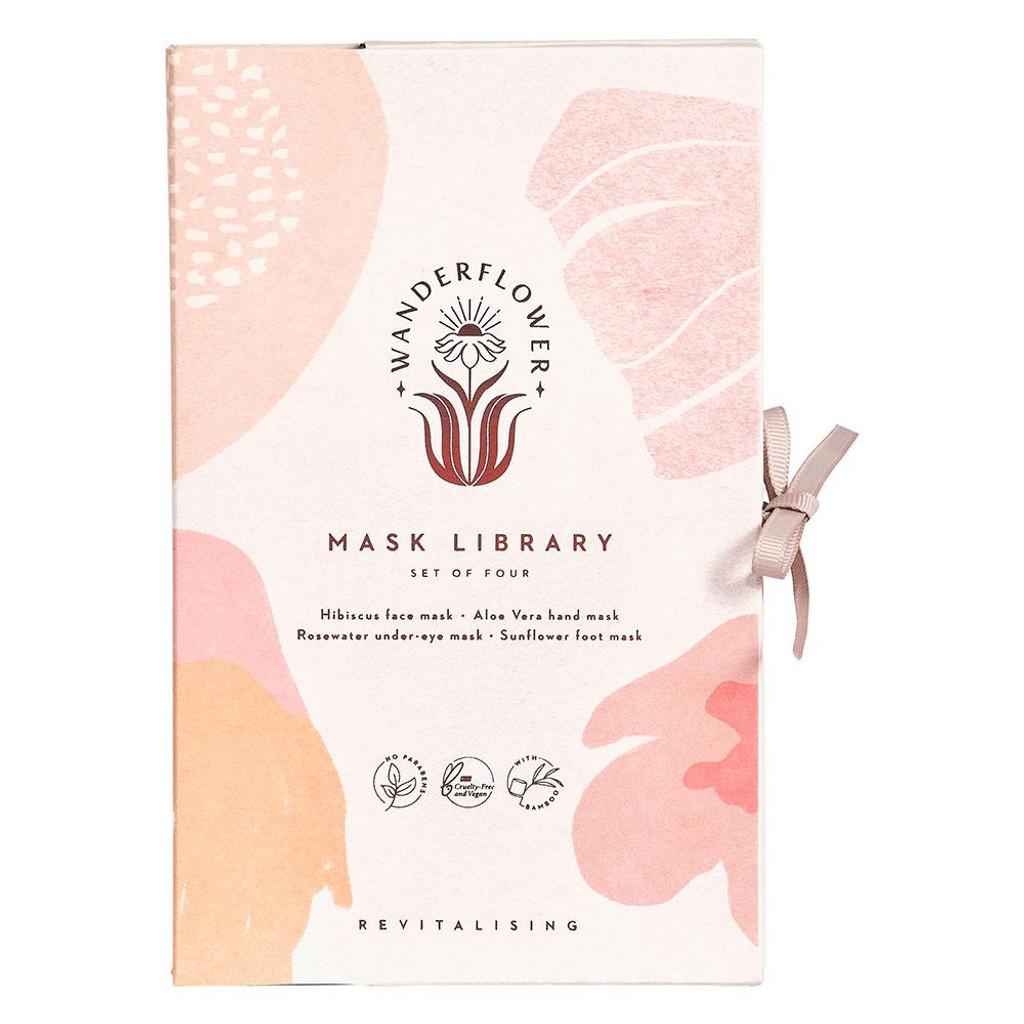 Wanderflower Sheet Mask Library Gift Set: 4 Pieces