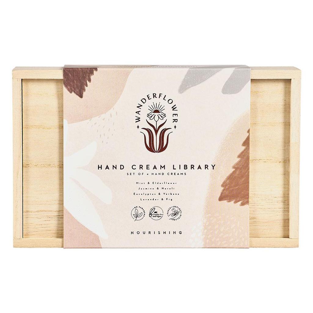 Wanderflower Hand Cream Library Boxed Gift Set 4x30ml