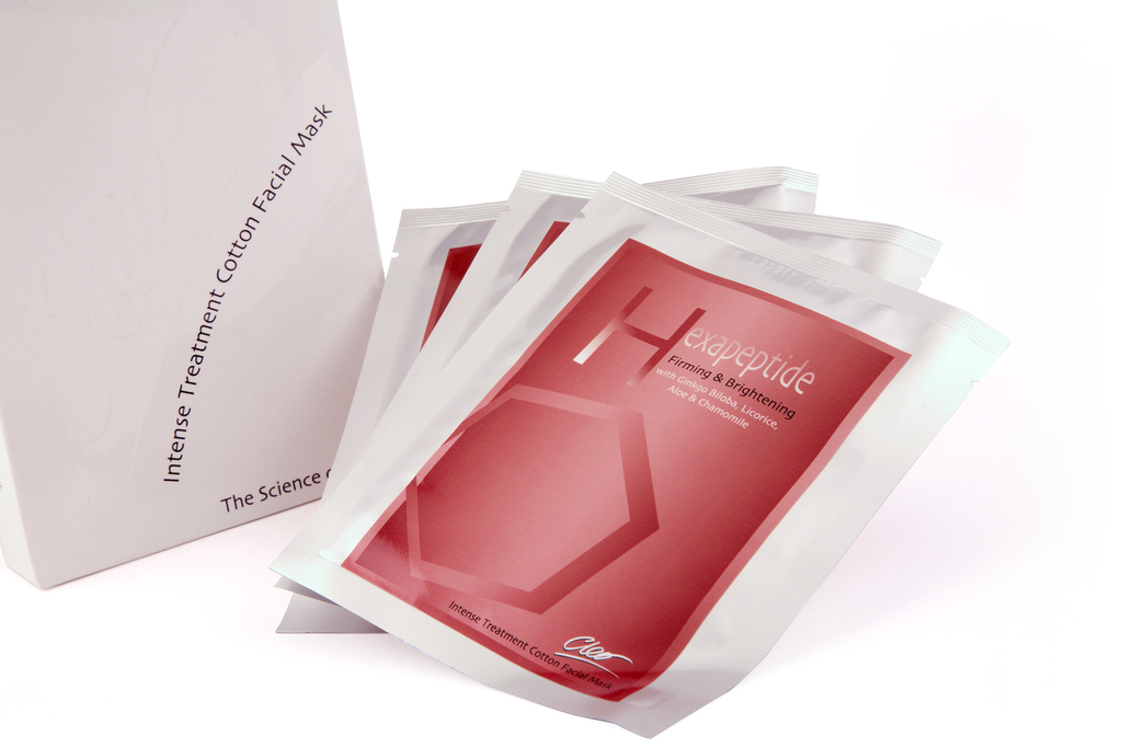 cleo hexapeptide firming and brightening facial masks
