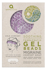 Aroma Home Therapeutic Gel Beads Migraine Relief Head Band: Lavender