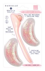 Danielle Bright Eyes Glitter Gel Eye Pads & Roller Set
