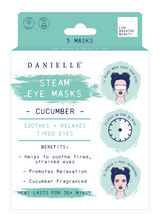 Danielle Cucumber Infused Soothing Steam Eye Masks: Pack of 5