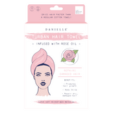 Danielle Rose Oil Infused Pink Turban Hair Towel