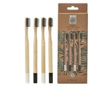 Eco Green Charcoal Infused Bamboo Toothbrush - Set of 4