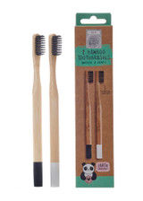 Eco Panda Charcoal Infused Bamboo Toothbrush - Set of 2