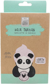Eco Panda Bamboo Fibre Pink Hair Drying Turban Towel