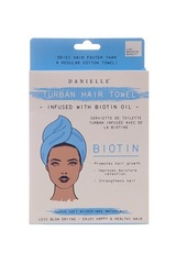 Danielle Biotin Oil Infused Blue Turban Hair Towel
