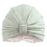 Full Circle Beauty Teal Spots Turban Style Shower Cap